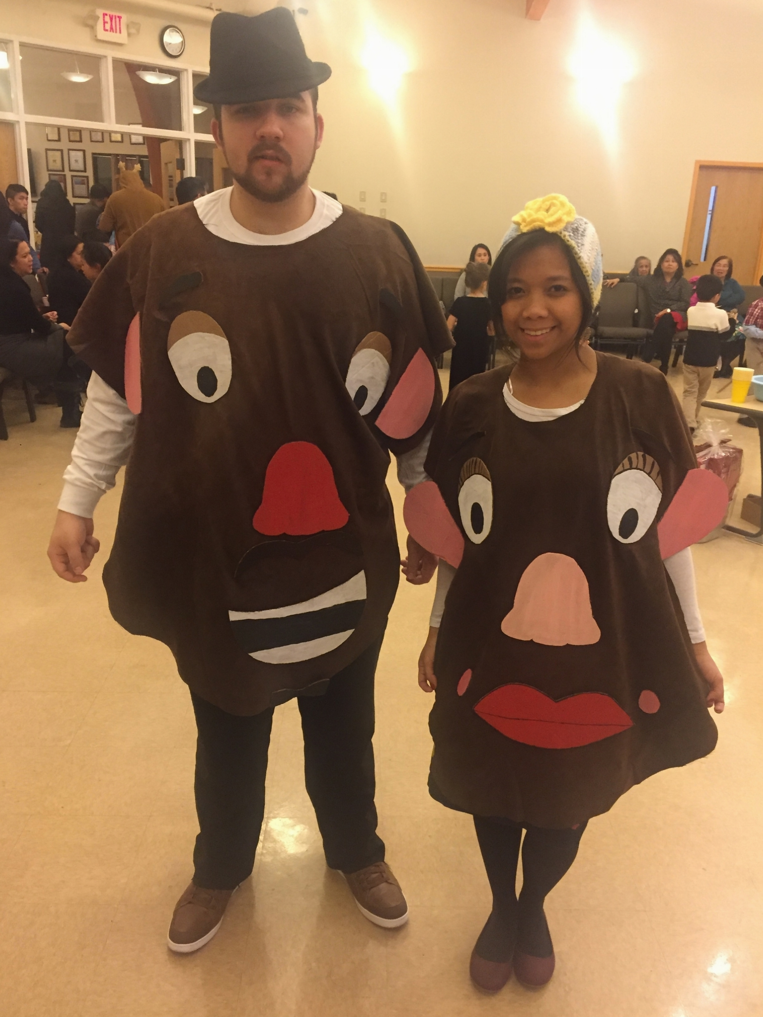 Mr & Mrs Potato Head Costume Party New Year 2018 Jam & Faye Forever